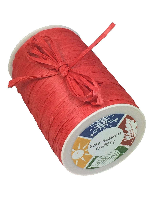Four Seasons Crafting Matte Finish Raffia Ribbon 1/4 X 100 Yds. Green 3399166