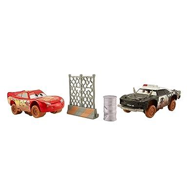 Disney Pixar Cars 3 Crazy 8 Crashers Lightning McQueen & APB Vehicle 2-Pack: Toys & Games