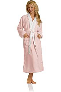 8ad4196962 Plush Necessities Luxury Spa Robe - Microfiber with Cotton Terry Lining  Beige