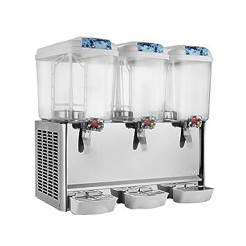 orangea dispensador de zumo de dispensador de bebidas dispensador de bebida fría de 48 galones dispensador de zumo de frutas bebida hielo té 18L x 3 ...