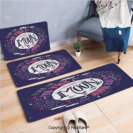 Amazon com : 3 Piece Fashion Flannel Door Mat Carpet Harvest