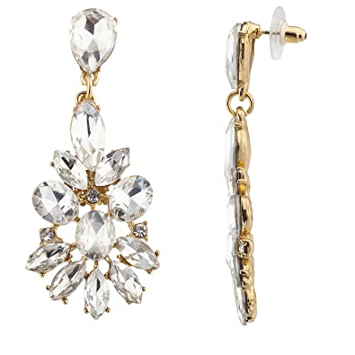 52541e94e6d6 Amazon.com  Lux Accessories Gold Tone Special Occasion Wedding Bridal  Statement Earrings  Jewelry