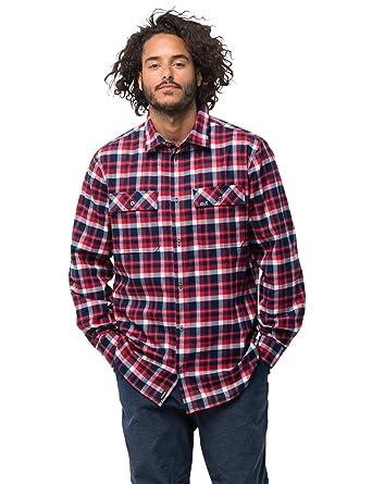 Jack Wolfskin Men's Bow Valley Shirt Outdoor Hemd Für Reise Freizeithemd Atmungsaktiv