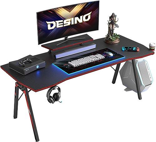 DESINO Gaming Desk 55 inch PC Computer Desk