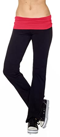 Amazon.com: CordiU Contrast Band Yoga Pants: Clothing