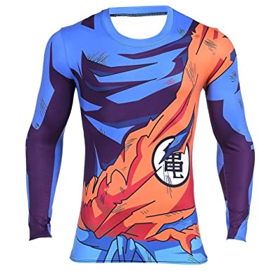 d4ed7279bc4b Amazon.com: Goku Vegeta Dragon Ball Z DBZ Compression T-Shirt Muscle ...