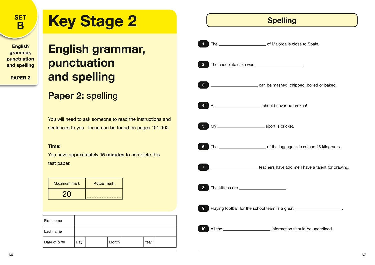 KS2 Maths, English and Science SATs Practice Test Papers: 2018 ...