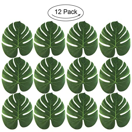 5d199254ff92a HuntGold Artificial Palm Leaves Faux Tropical Palm Tree Leaves Table  Placemat Christmas Beach Jungle Hawaii Party Decoration  Amazon.co.uk   Kitchen   Home
