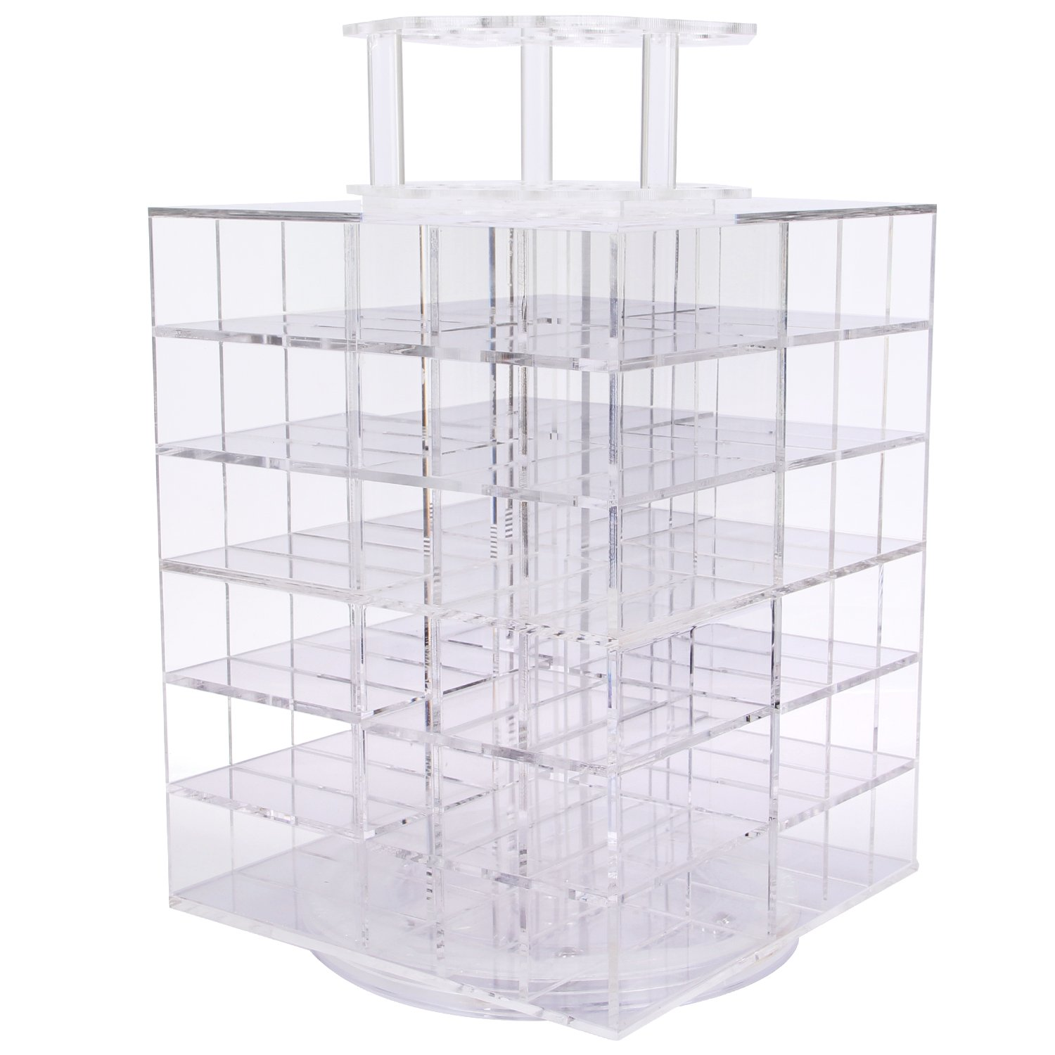 Lifewit Spinning Lipstick Tower Premium Acrylic Rotating Lipgloss Holder Makeup
