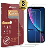 iPhone XR Screen Protector, iPhone XR Tempered Glass (3 in Pack) 3D Glass Display Case Friendly Screen Protector for Apple iPhone 10R (2 Front, 1 Back Tempered Glass)