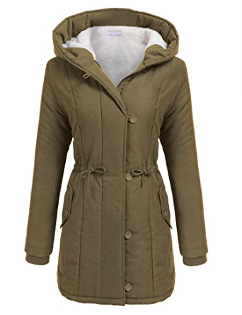 59faed943b5d Amazon.com  Beyove Womens Military Hooded Warm Winter Faux Fur Lined Parkas  Anroaks Long Coats  Clothing