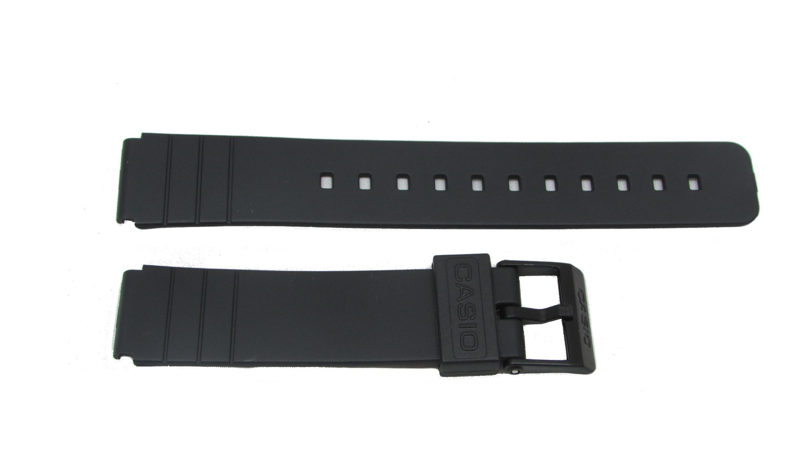 Casio Rubber Watch Band-16mm Fits: MQ-24CC-4B2W, MQ-24CC-4B3W, MQ-24CC-9B2W, MQ-24-1B2LSW, MQ-24-1B3LLSW, MQ-24-1B3LSW, MQ-24-1BLLSW, MQ-24-1BLSW, MQ-24-ELSW, MQ-24-7B2LLSW