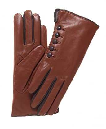 0c8480ef9 Fratelli Orsini Women's Italian Cashmere Lined Gloves with Buttons at  Amazon Women's Clothing store: Cold Weather Gloves