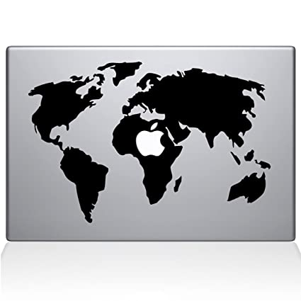Amazon the decal guru world map macbook decal vinyl sticker the decal guru world map macbook decal vinyl sticker 13quot macbook pro 2015 gumiabroncs Image collections
