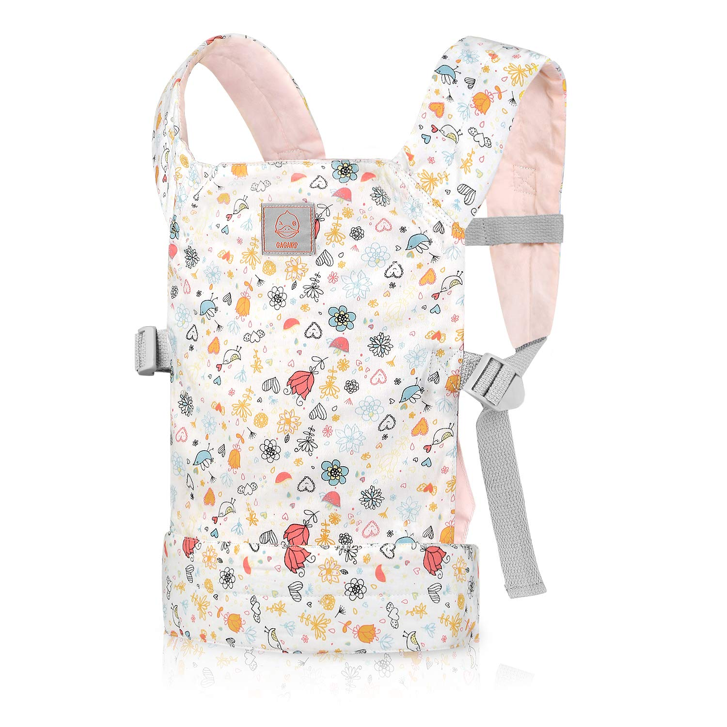 GAGAKU Doll Carrier Front and Back Soft Cotton for Baby Over 18 Months, Rose Garden Series