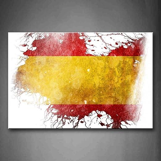 Amarillo En La bandera de España pared arte pintura fotos ...