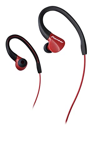 Pioneer SE-E3-R - Auriculares Deportivo (Resistente al Agua IPX-2 ...