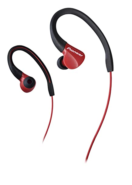 Pioneer SE-E3-R - Auriculares Deportivo (Resistente al Agua IPX-2