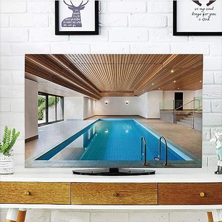Cubierta de Polvo para televisor LCD, Personalizable, decoración de casa, apartamento con Piscina Interior, Techo de Madera, residente Privado Elegante, diseño gráfico Personalizable, 42 Pulgadas TV: Amazon.es: Hogar