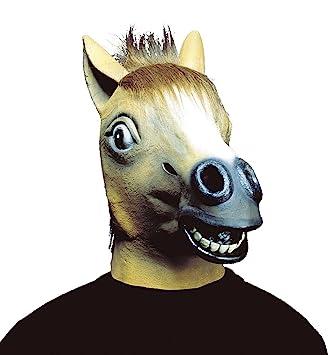 Widmann – Máscara de caballo con el pelo, de peluche