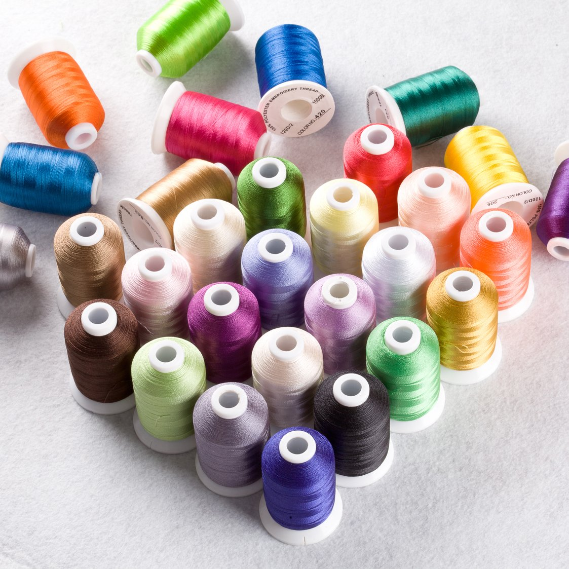 Polyester Embroidery Machine Thread 40 Colors 40C with Storage Box