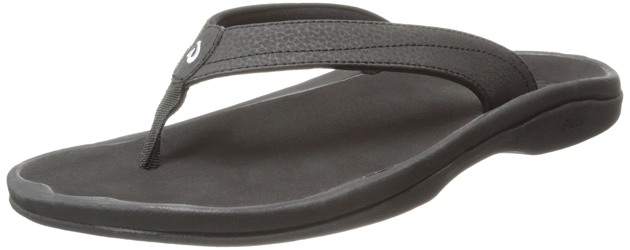 OLUKAI Women's Ohana Sandal, Black/Black, 8 M US by OLUKAI