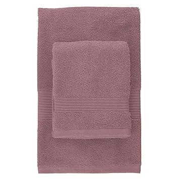 Zucchi solotuo - Lote de 2 toallas Dont 1 toalla invitados 100% algodón peinado esponja 40 x 60 cm y 60 x 110 cm 560 G/m²: Amazon.es: Hogar