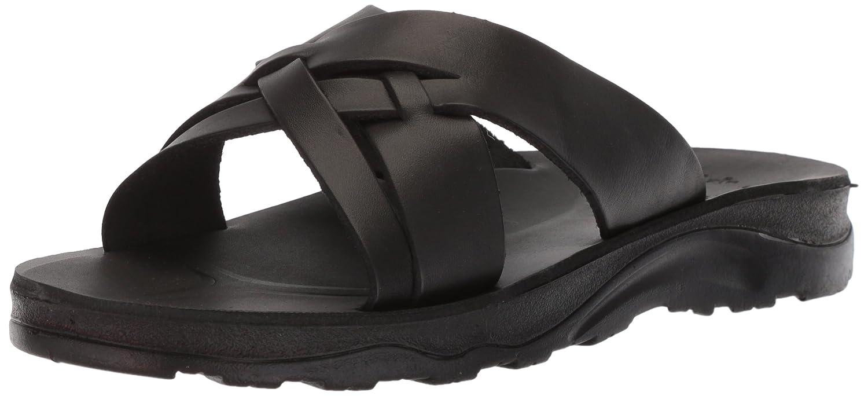 Jerusalem Sandals Men's Jesse Molded Footbed Slide Sandal B075LT1K8X 46 Medium EU (13 US)|Black