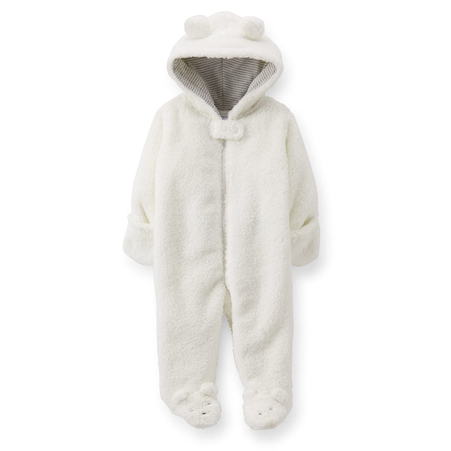 c3acfc6d6 Amazon.com   Carter s (Carter s)  romper coveralls Sherpa hooded ...