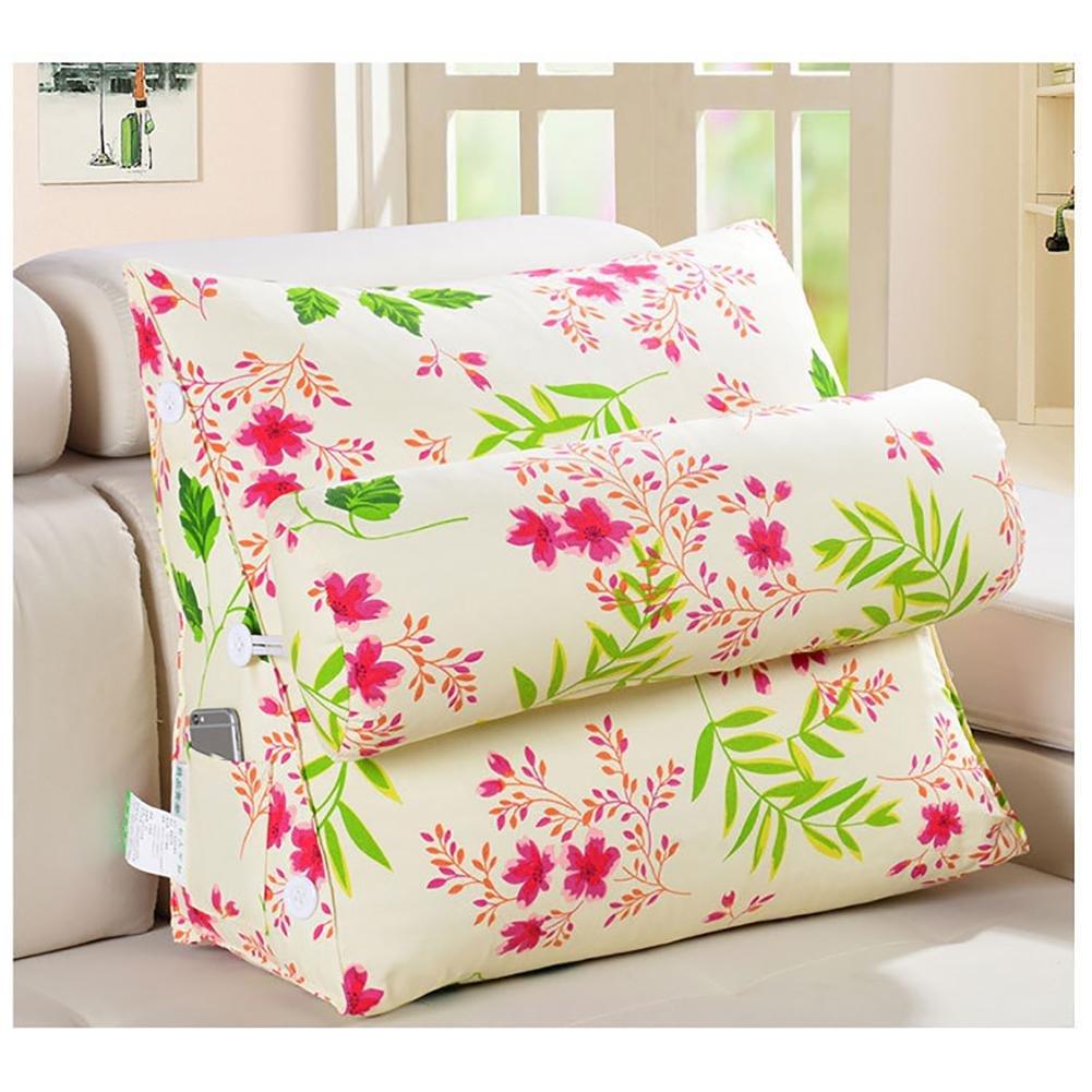 FLHSLY Back wedge Headrest Triangle Big backrest sofa bedside pillow Backrest lumbar support cushions reading pillows , 4 , 45*45*20cm
