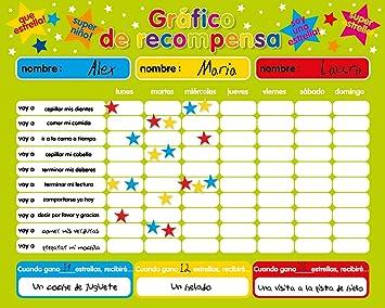 Recompensa magnética / Star / Responsabilidad Gráfico / Comportamiento durante un máximo de 3 niños. Tablero rígido de 16