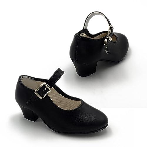 8d32fb68f FLAMENKITAS Calzado de Danza para Mujer - Zapatos Flamenca Correa - Hecho  EN España - Color - Negro