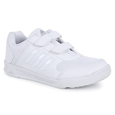 Adidas White school shoes - Sports shoes Kids range (Size 11C)