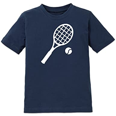 separation shoes 2de7f fc26c Shirtcity Tennis Racket and Ball Kinder T-Shirt by: Amazon ...