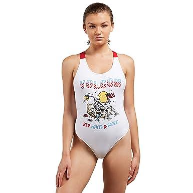 70b9c4fa0500d Amazon.com: Volcom Women's Junior's Fresh Ink One Piece Swimsuit ...