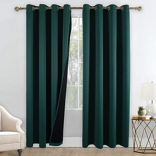 Reviewed: YGO Heat Blocking 100 Percent Blackout Curtains Durable Black Lined Blackout Curtains