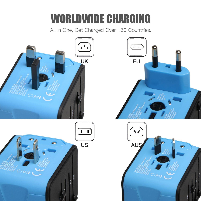 Adaptador de corriente universal con 4 puertos USB