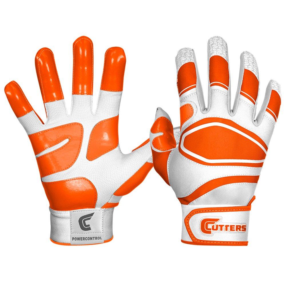 カッター手袋メンズ電源コントロール野球バッティンググローブ B00G6J9VA4 Small|ホワイト/オレンジ ホワイト/オレンジ Small
