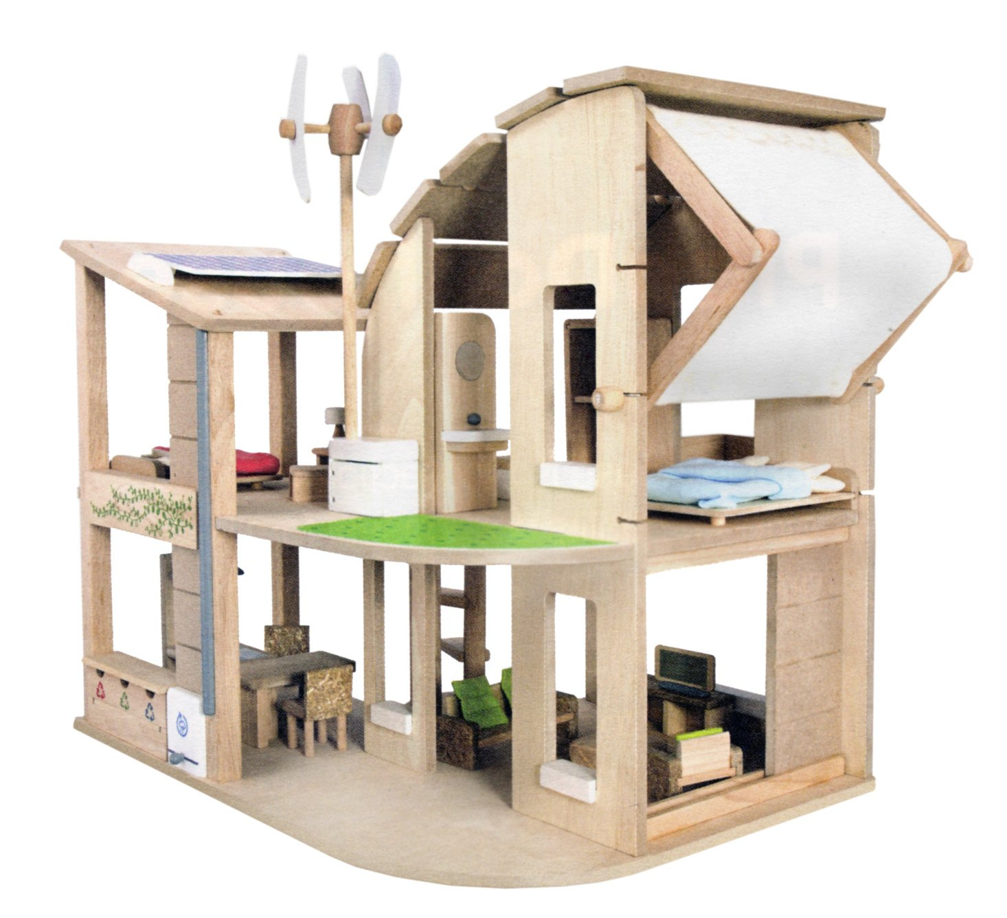 Amazoncom Plan Toys The Green Dollhouse with Furniture plan