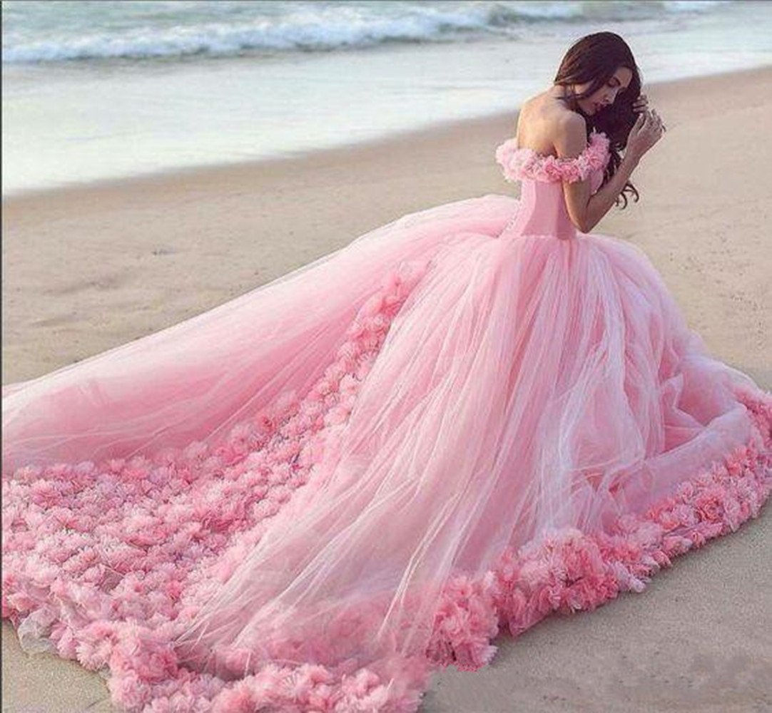 Uryouthstyle Off Shoulder Quinceanera Gowns A-line Puffy Prom Dresses HJ0071