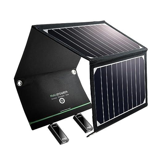RAVPower 15 W Solar Cargador de batería para iPhone, iPad, GPS ...