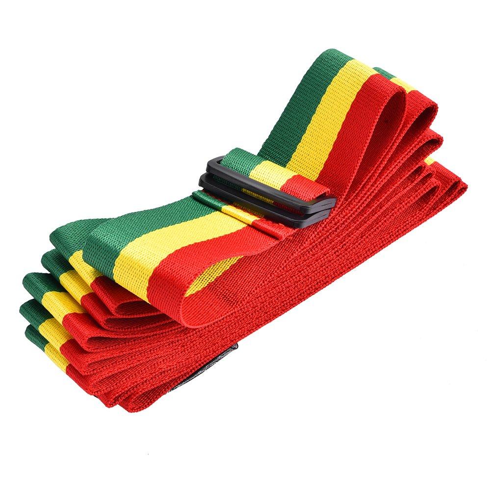 Alomejor Tricolor African Hand Drum Belt, Portable Djembe Shoulder Strap for Stage Performance