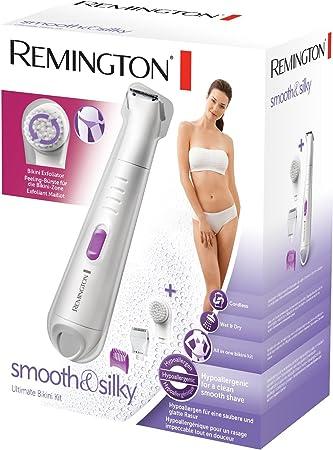 Remington WPG4035 - Kit de Depilación, Depiladora Femenina para Zona Bikini y 4 Accesorios, Inalámbrica, Uso Seco y Mojado, Blanco y Morado