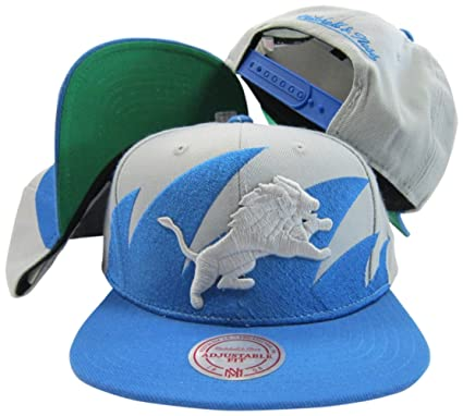 3d7f7c1a Detroit Lions Mitchell & Ness Snapback Adjustable Plastic Snap Back ...