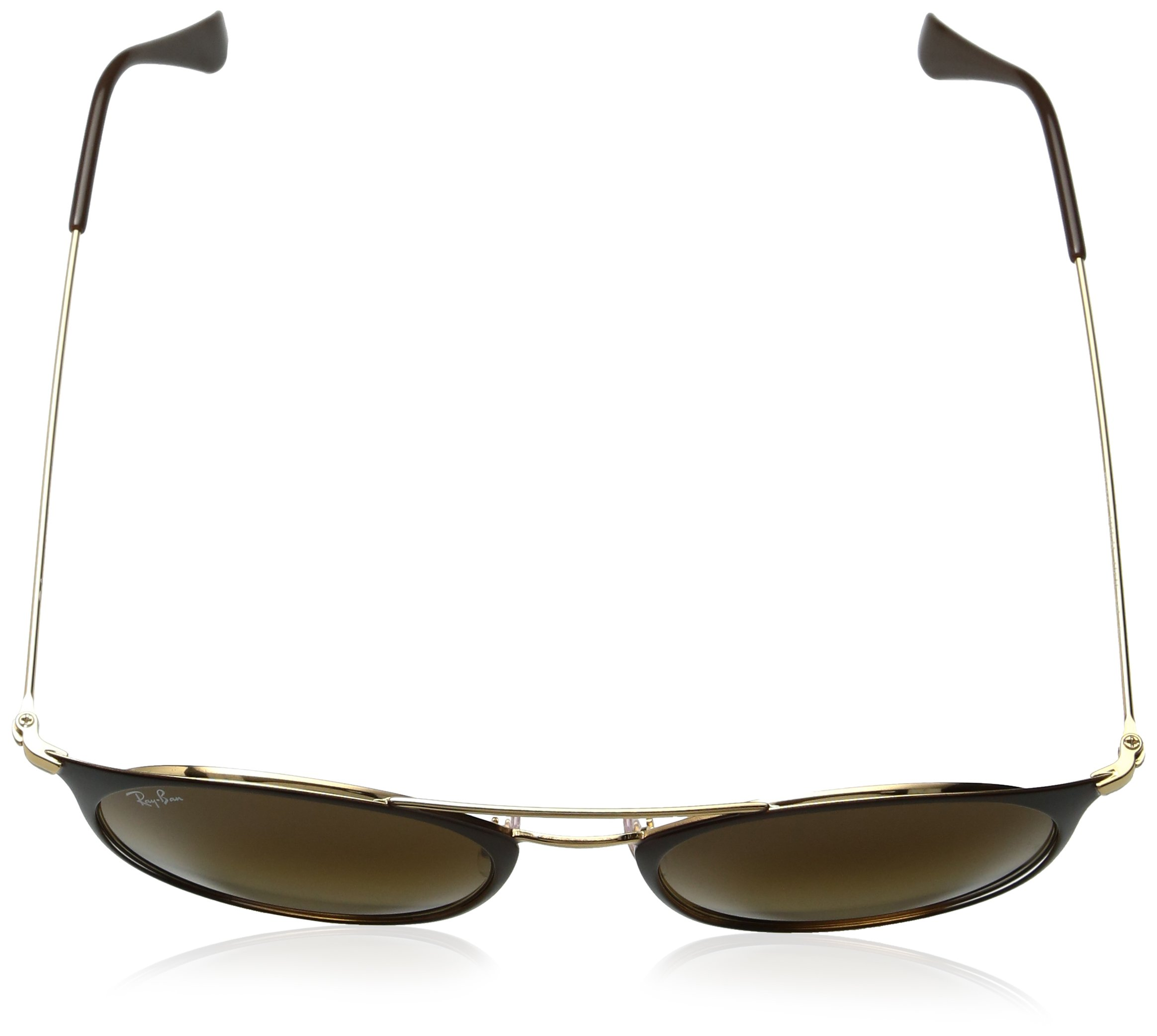 Ray-Ban Steel Unisex Round Sunglasses, Gold Top Brown, 52 mm by Ray-Ban (Image #4)