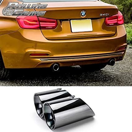 Amazon Com Rolling Gears 3 5 Dual Exhaust Tips For 3er F30 F31
