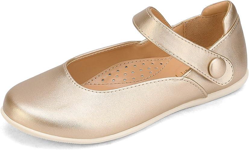 DREAM PAIRS Girls Ballerina Dress Shoes Mary Jane Flats