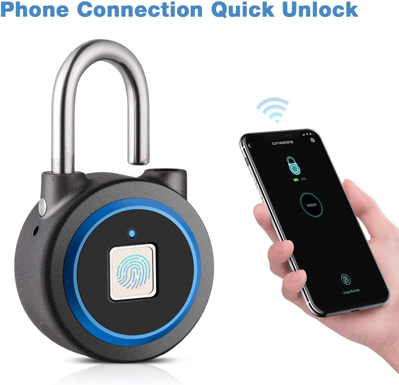 Amazon Promo Code for Fingerprint Padlock Thumbprint Bluetooth Lock USB Rechargeable