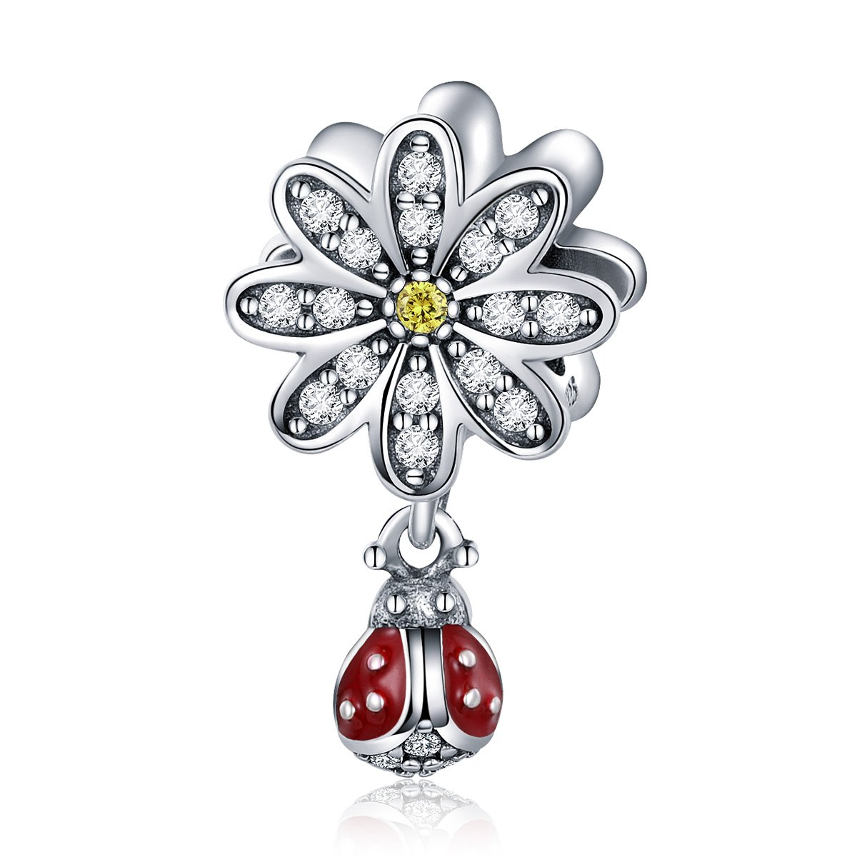 WOSTU Animal Charms Flower Charms for Charm Bracelets 925 Sterling Silver Charms Beads Gifts for Her