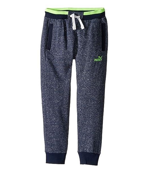 11d275866f02 Amazon.com  Puma Kids Boy s Salt and Pepper Jogger (Big Kids) Blue Heather  Pants  Clothing